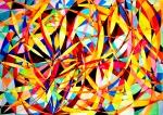 Wheel within a Wheel 46 51 in x 72 in Watercolor/Gouache 2007